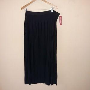 NWT black maxi skirt, merona 3X